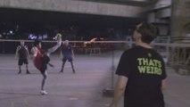I Played My First Match of Sepak Takraw AKA Foot Volleyball #WhoaThatsWeird