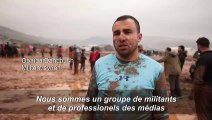 Syrie: match de football dans la boue pour des enfants déplacés
