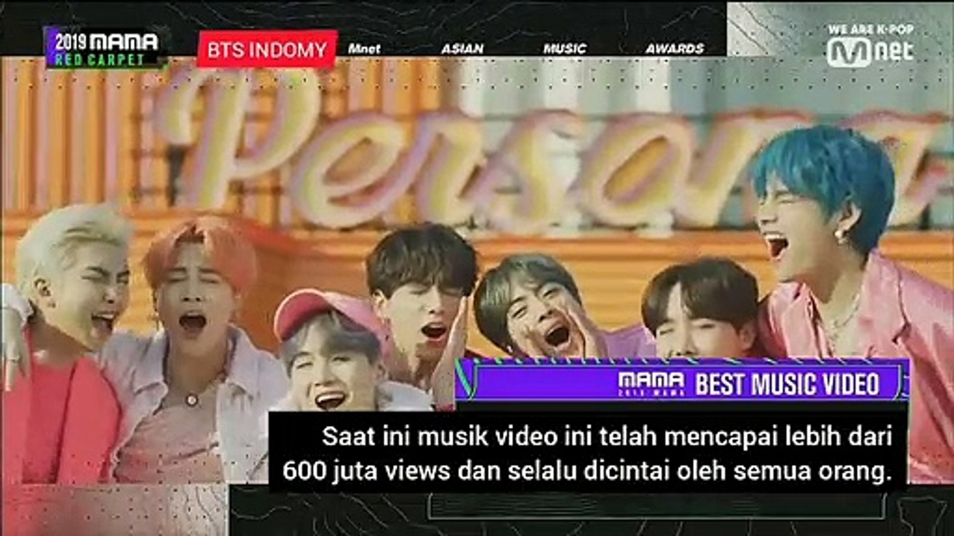 (INDO SUB) MAMA 2019 BEST MUSIC VIDEO BTS BOY WITH LUV