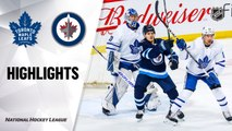 NHL Highlights | Maple Leafs @Jets 01/02/20
