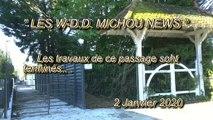 LES W-D.D. MICHOU NEWS - 2 JANVIER 2020 - PAU - AVANT SON INAUGURATION VOICI LE PASSAGE DE L'Ave DES ACACIAS.. .