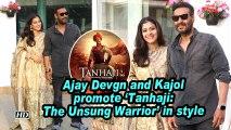 Ajay Devgn and Kajol promote 'Tanhaji: The Unsung Warrior' in style