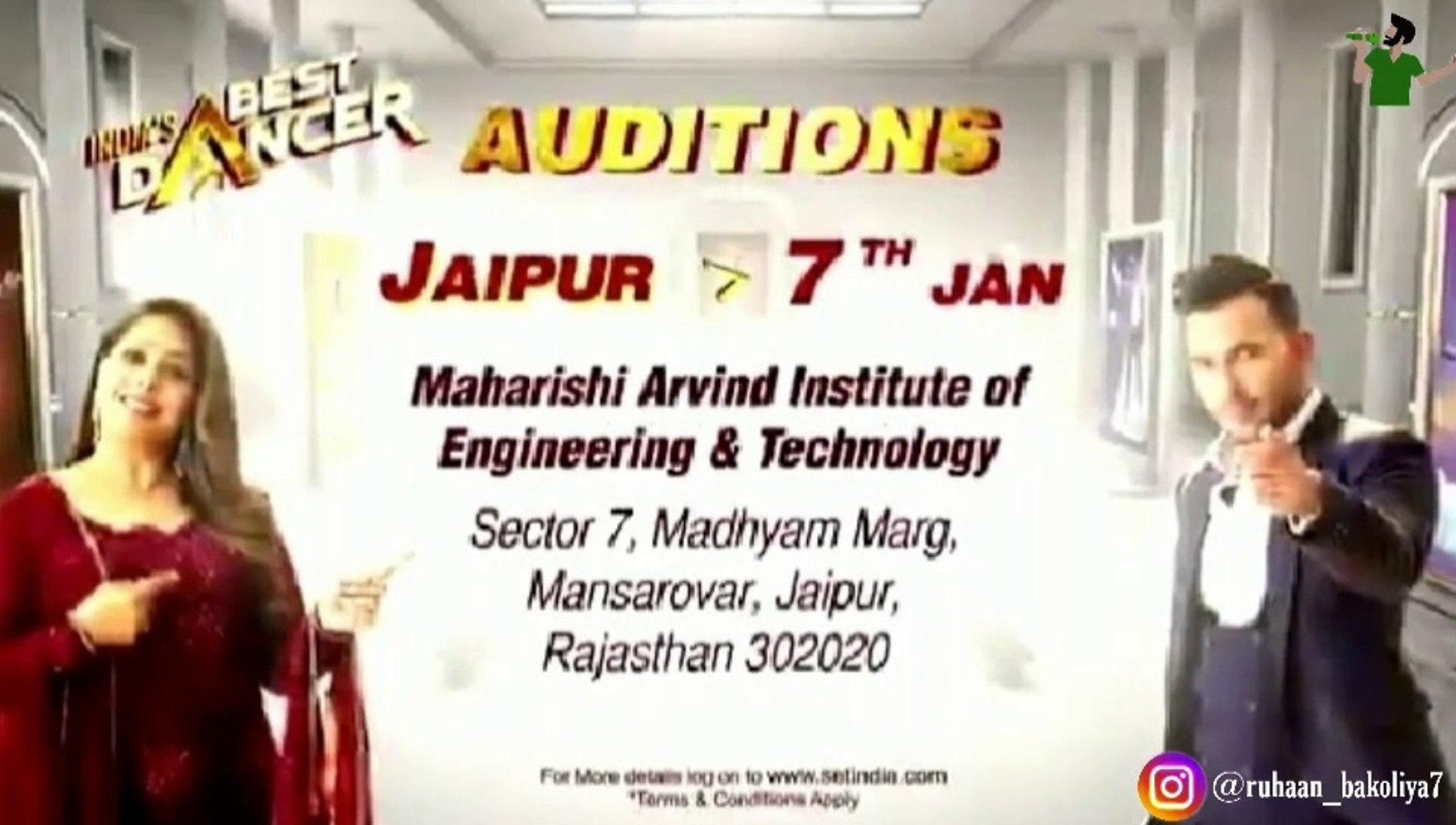 INDIA'S BEST DANCER JAIPUR AUDITION 2020   DANCING AUDITION 2020   JAIPUR AUDITION 2020