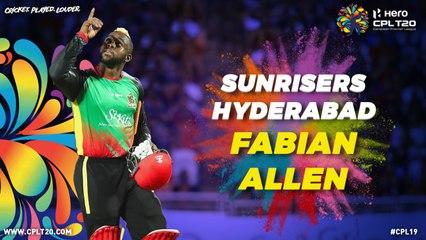 FABIAN ALLEN | SUNRISERS HYDERABAD | #IPLAuction #CPL #CricketPlayedLouder