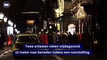 Deux artistes de cirque ont chuté de 10 mètres devant le public lors d'un spectacle qui se tenait hier soir au Théâtre royal Carré à Amsterdam