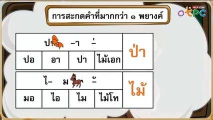 สื่อการเรียนการสอน การสะกดคำที่มากกว่า 1 พยางค์ (2) ป.1 ภาษาไทย