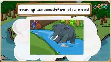 สื่อการเรียนการสอน การสะกดคำที่มากกว่า 1 พยางค์  เรื่อง พูดเพราะ ป.1 ภาษาไทย
