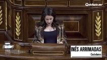 """Arrimadas dice que PSOE y Unidas Podemos perdieron un """"chorrón de votos"""" y desata la risa en el Congreso"""