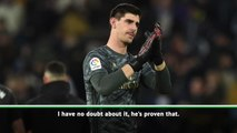 Zidane hails Courtois as the best