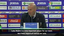 Modric is very important to Real - Zidane