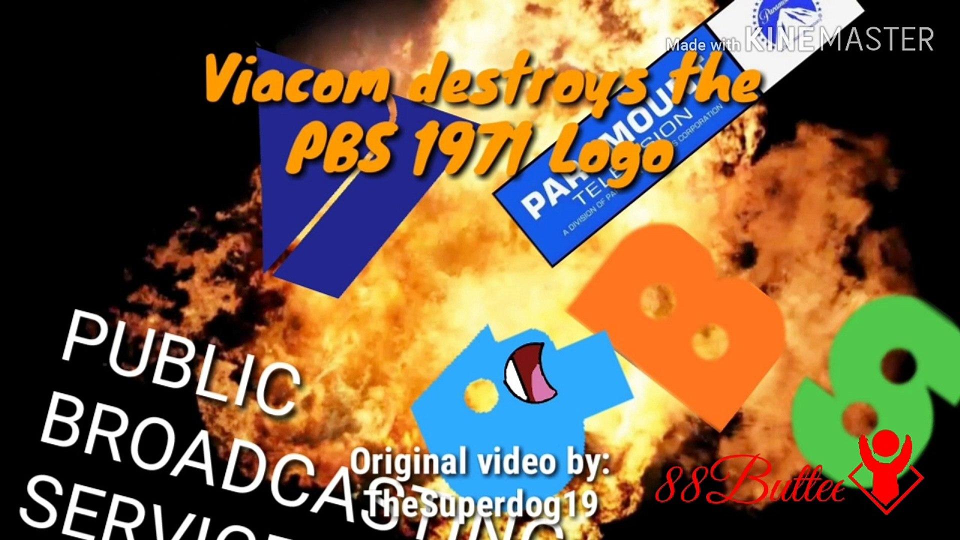 PBS Parodies Fun - Viacom Destroys PBS 1971 Logo