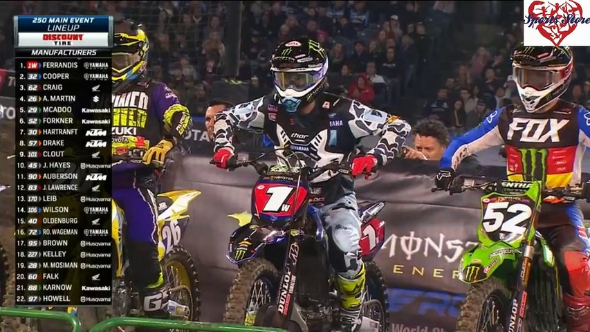 250 SX Main Event Anaheim AMA Supercross 2020