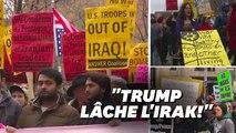 """""""Pas de guerre contre l'Iran"""", scandent ces manifestants aux Etats-Unis"""