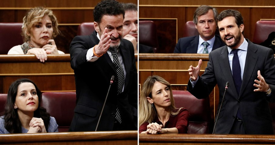 Pablo Casado y Edmundo Bal defienden al Rey y a las víctimas ante la pasividad de Sánchez con Bildu