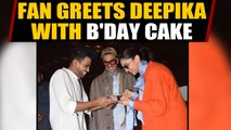 Deepika celebrates 34th birthday with Ranveer and fan at Mumbai airport | Oneindia News