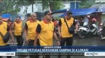 Ribuan Petugas Bersihkan Sampah Sisa Banjir di Empat Wilayah Jakut