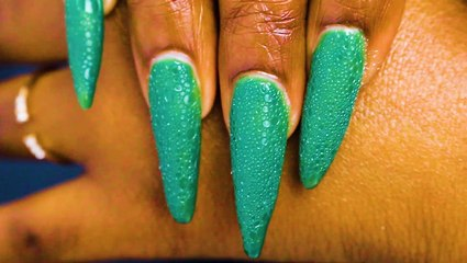 Nail artists are using dish soap to create bubble nail art