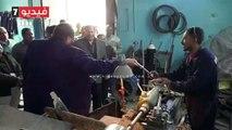 محافظ أسيوط يتفقد ورشة المحابس بشركة مياه الشرب والصرف الصحى
