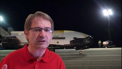Así es el drone espacial secreto X-37B de EE.UU. cuya última misión duró 780 días en el espacio