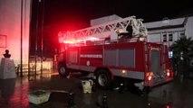 Milas Devlet Hastanesindeki yangın maddi hasara neden oldu