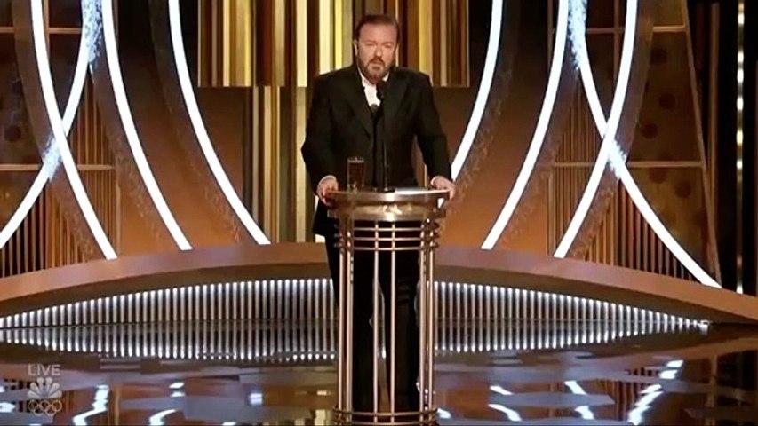 Ricky Gervais Golden Globes 2020 Opening + Jennifer Anniston #GoldenGlobes