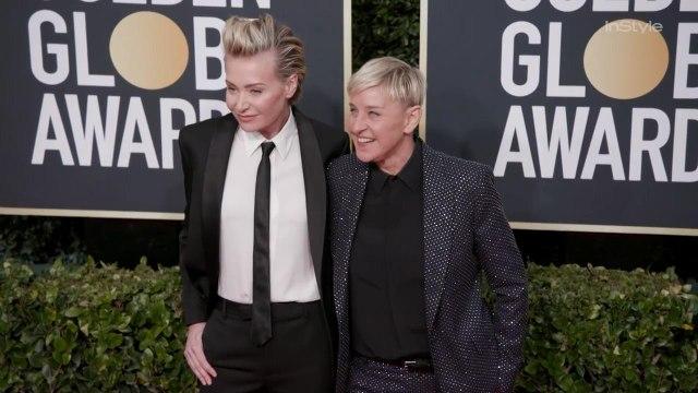 Ellen DeGeneres and Portia de Rossi Paltrow Golden Globes 2020 Arrival