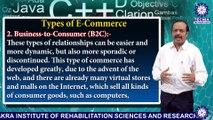 MBA || Dr. ANURANJAN MISHRA  || Types of E - Commerce  || TIAS || TECNIA TV