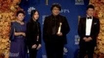 Bong Joon Ho Talks 'Parasite' Win   Golden Globes 2020
