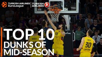 Top 10 Dunks at mid-season!