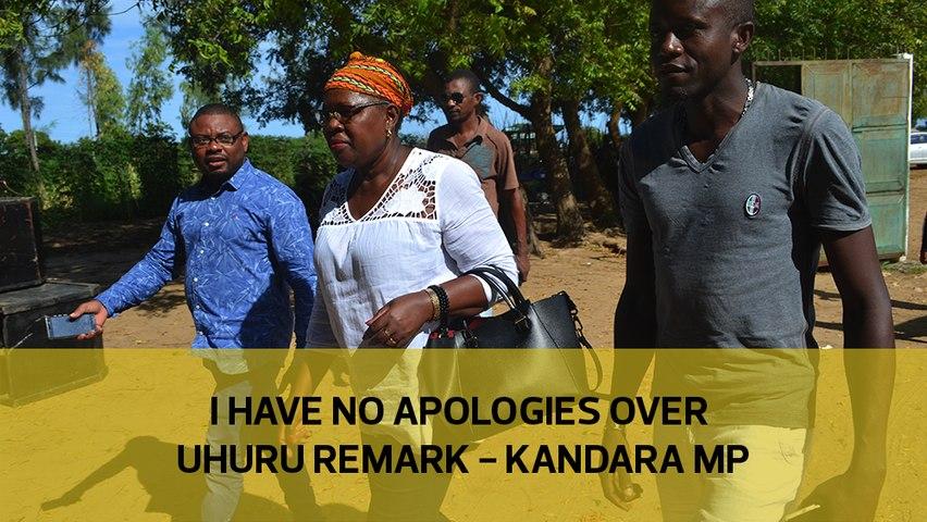 I have no apologies over Uhuru remark - Kandara MP