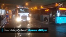 İstanbul'da yağış hayatı olumsuz etkiliyor