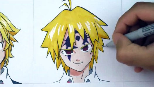Drawing Meliodas In A Different Anime Styles Video Dailymotion