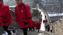 La Grande Muraille de Chine se réveille sous un manteau blanc