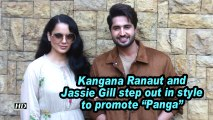 "Kangana Ranaut and Jassie Gill step out in style to promote ""Panga"""