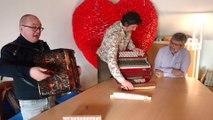 Jemappes Mons.. Une nouvelle formation de réparateurs d' accordéon.. Vidéo Eric Ghislain
