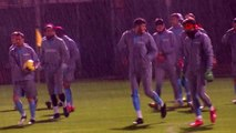 Spor trabzonspor, ikinci yarı hazırlıklarını antalya kampında sürdürdü