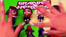 BIG HERO 6  Baymax, Hiro, Fred and Honey Lemon with CUSTOM LOL Surprise Dolls - Toy Transformations