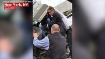 New York Governor Cuomo Comes Upon Accident On Highway