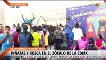 Festejos en el Zócalo capitalino por el Día de Reyes