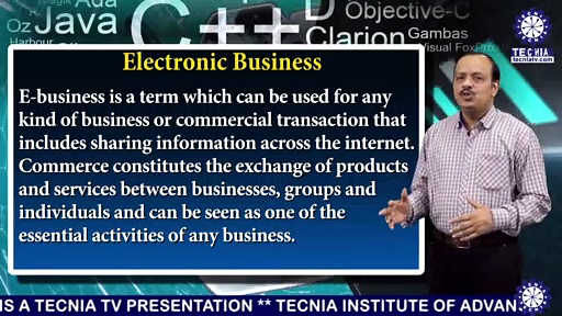 MBA || Dr. ANURANJAN MISHRA || Electronic Business  and Electronic Commerce  || TIAS || TECNIA TV