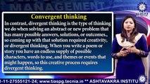 MBA || Dr. Kanika Gupta || Types of Thinking and  Critical problem solving || TIAS || TECNIA TV