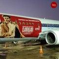 'Darbar' promos reach the skies, Spicejet flies aircraft with Rajini image