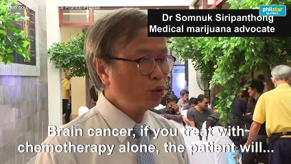 Free handouts of cannabis oil at Bangkok medical marijuana clinic