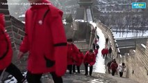 China's Great Wall wakes up to snow