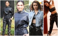 Shraddha Kapoor Apes Deepika Padukone's Black Latex Separate Look But Gives It A Twist With Denim