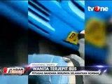 Wanita Terjepit Bus Damri di Area Bandara Soetta