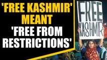 Woman holding 'free Kashmir' poster fears for her life | OneIndia News