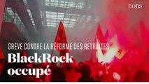 Des cheminots en grève envahissent les locaux parisiens de BlackRock