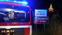 Chiusa di San Michele (TO) - Bruciano strutture agricole in Via Torino (04.01.20)