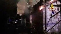 Brogliano (VI) - Incendio in magazzino agricolo (05.01.20)